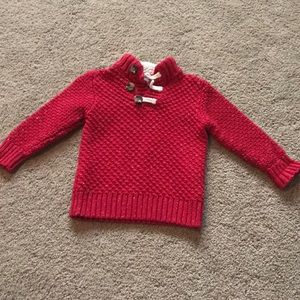 Red toddler sweater